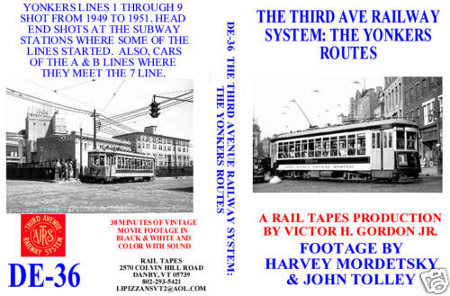 THIRD AVE RAILWAY SYSTEM YONKERS ROUTES