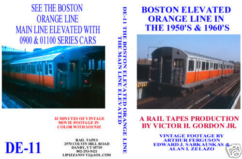 BOSTON ELEVATED ORANGE LINE IN THE 1950'S & 1960'S