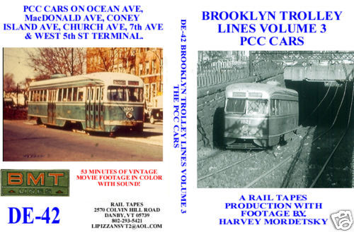 BROOKLYN TROLLEY LINES VOL 3 PCC CARS