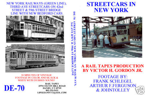 STREETCARS IN NEW YORK  - NY RAILWAY, 3RD AVE RY & 59TH ST BRIDGE LINE