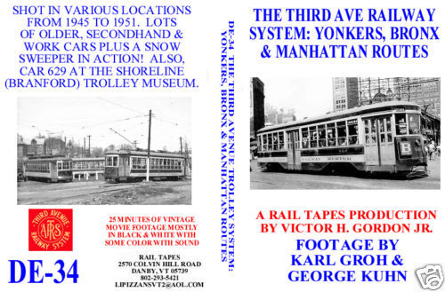 THIRD AVE RAILWAY SYSTEM: YONKERS, BRONX & MANHATTAN ROUTES