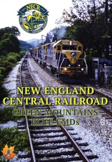 NEW ENGLAND CENTRAL RAILROAD GREEN MOUNTAINS, BLUE EMDS