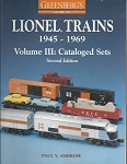 GREENBERG'S GUIDE TO LIONEL 1945-1969 VOL 3 CATALOGED SETS S/C