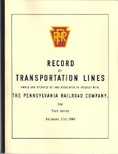 PENNSYLVANIA RAILROAD RECORD OF TRANSPORTATION LINES OWNED AND OPERATED BY, AND ASSOCIATED IN INTEREST WITH THE PENNSYLVANIA RAILROAD COMPANY FOR YEAR ENDING DECEMBER 31ST, 1940