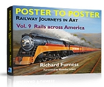 POSTER TO POSTER RAILWAY JOURNEYS IN ART VOL 9 RAILS ACROSS AMERICA