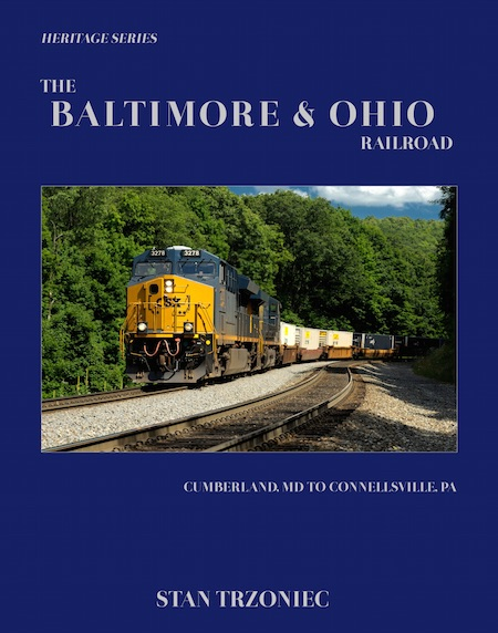 BALTIMORE & OHIO RAILROAD CUMBERLAND, MD TO CONNELLSVILLE, PA