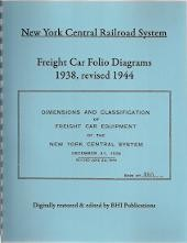 NEW YORK CENTRAL FREIGHT CAR FOLIO DIAGRAMS OF THE NYC RR 1938 REVISED 1944